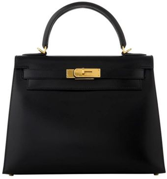 Hermes Black Box Kelly with Gold - Lyst
