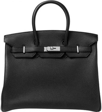 Hermes 35cm Black Togo Birkin with Palladium - Lyst