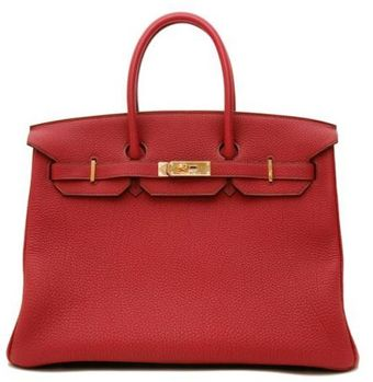 Hermes Small Horseshoe Rubis Togo Birkin with Gold Veronese Inside Stitching - Lyst