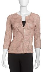 Lafayette 148 New York Anya Lacecut Leather Jacket - Lyst