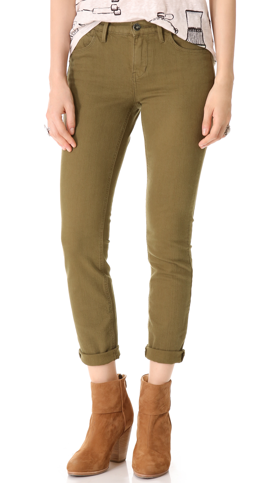 Free shipping and returns on Women's Green Skinny Jeans at 440v.cf