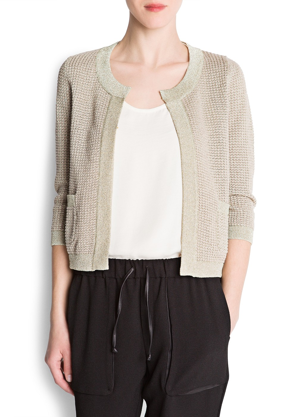 Mango Cardigan Amazon in Metallic | Lyst
