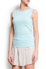 Mango Sheer Panel Top - Lyst