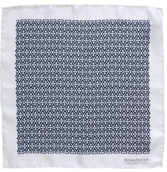 Mark/giusti Blue La Dolce Vita Silk Pocket Square - Lyst