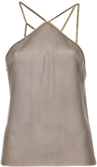 Paco Rabanne Chain Detailed Net Top - Lyst
