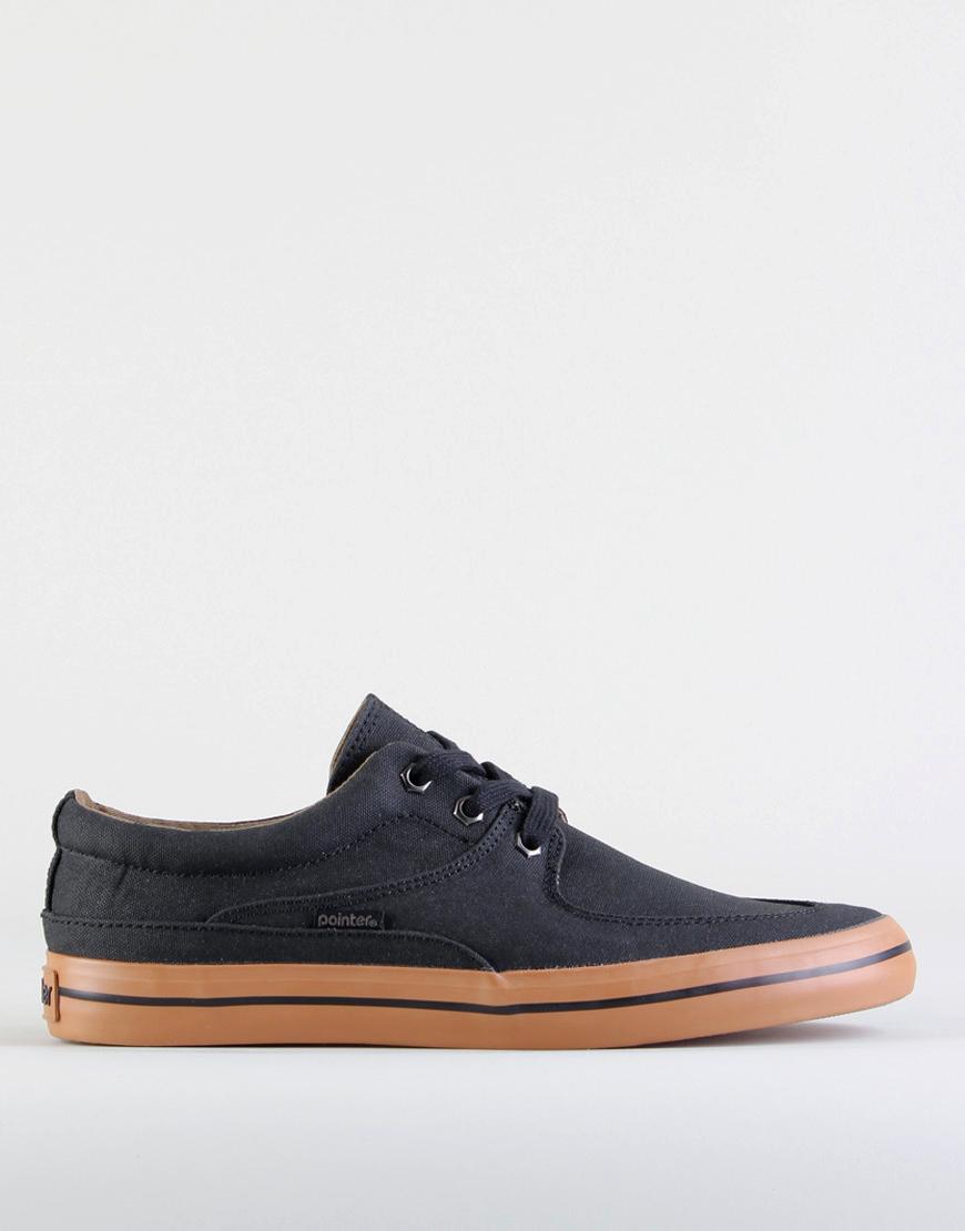 pointer debaser canvas shoes in black for black