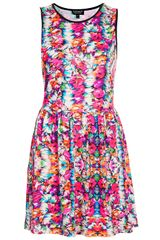 Topshop Summer Floral Flippy Dress - Lyst
