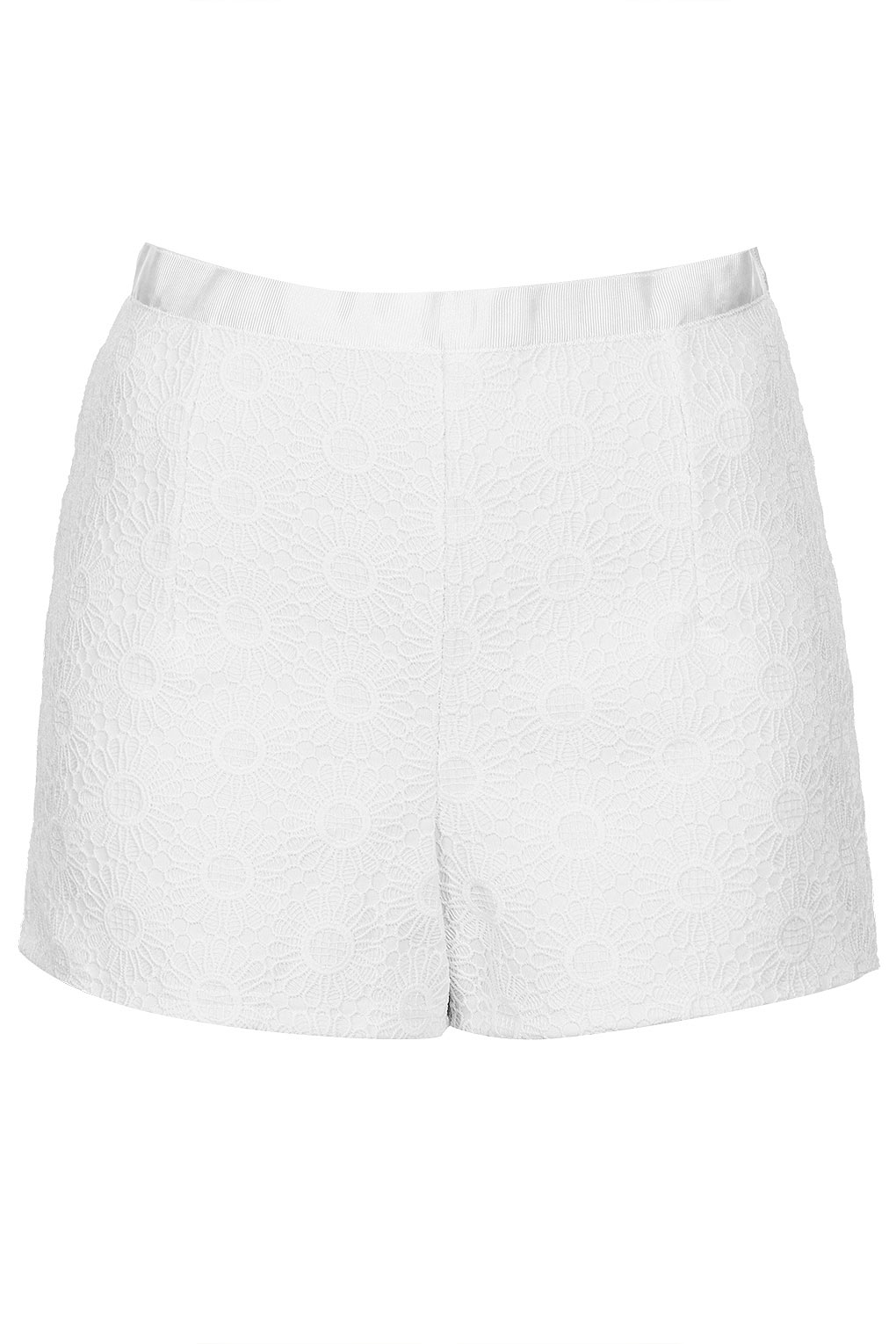 White Lace High Waisted Shorts - The Else