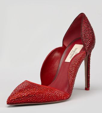 Valentino Degrade Crystal Suede Scallop Pump - Lyst