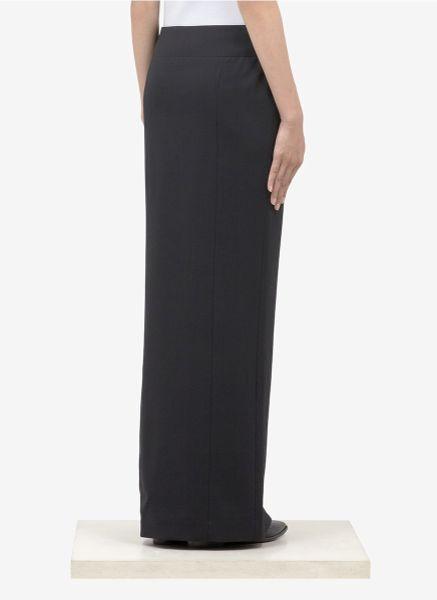 haider ackermann front slit wool maxi skirt in black lyst