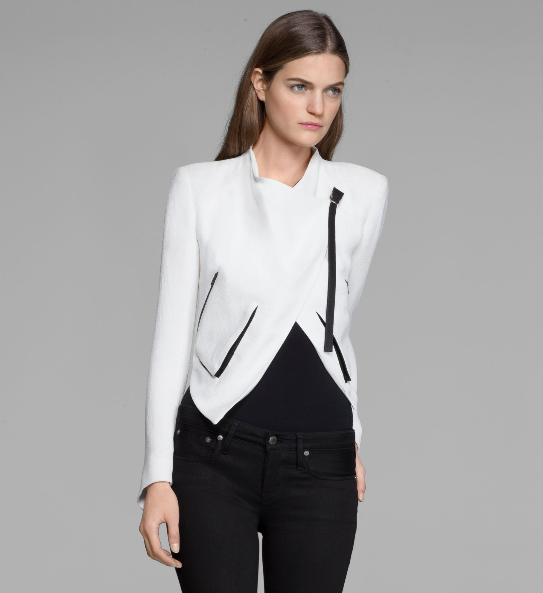 Helmut Lang Sugar Jacket In White Lyst