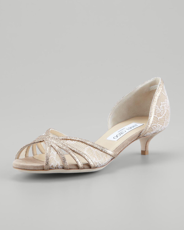 Kitten Heel Sandals Silver