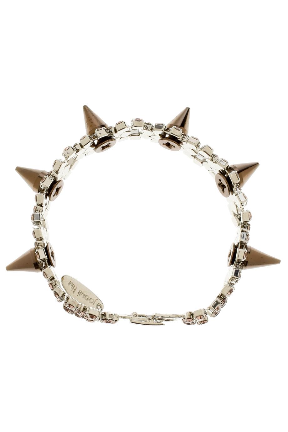 Lyst Joomi Lim Spike Amp Crystal Bracelet In Metallic