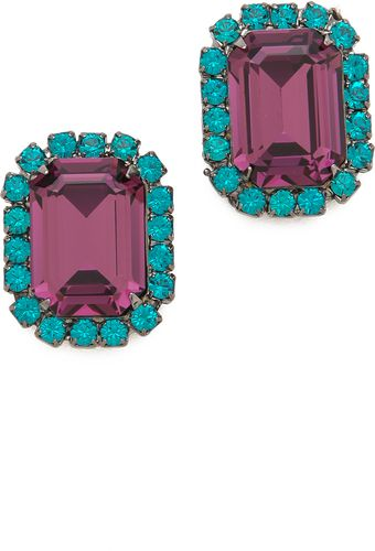 Kenneth Jay Lane Gem Oversized Stud Earrings - Lyst