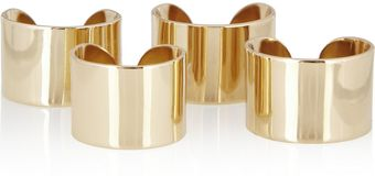 Maison Martin Margiela Set Of Four Gold Tone Knuckleduster Rings - Lyst