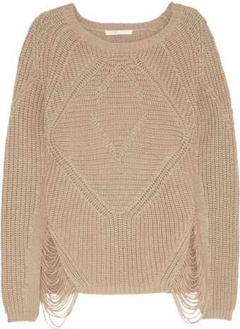 Maje Aero Laddered Chunky Knit Sweater - Lyst