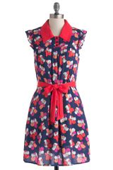ModCloth Stop and Smell The Hibiscus Dress - Lyst