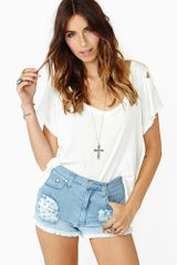 Nasty Gal Fade Out Cut-off Shorts - Lyst