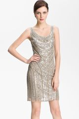 Pisarro Nights Embellished Scoop Neck Dress - Lyst