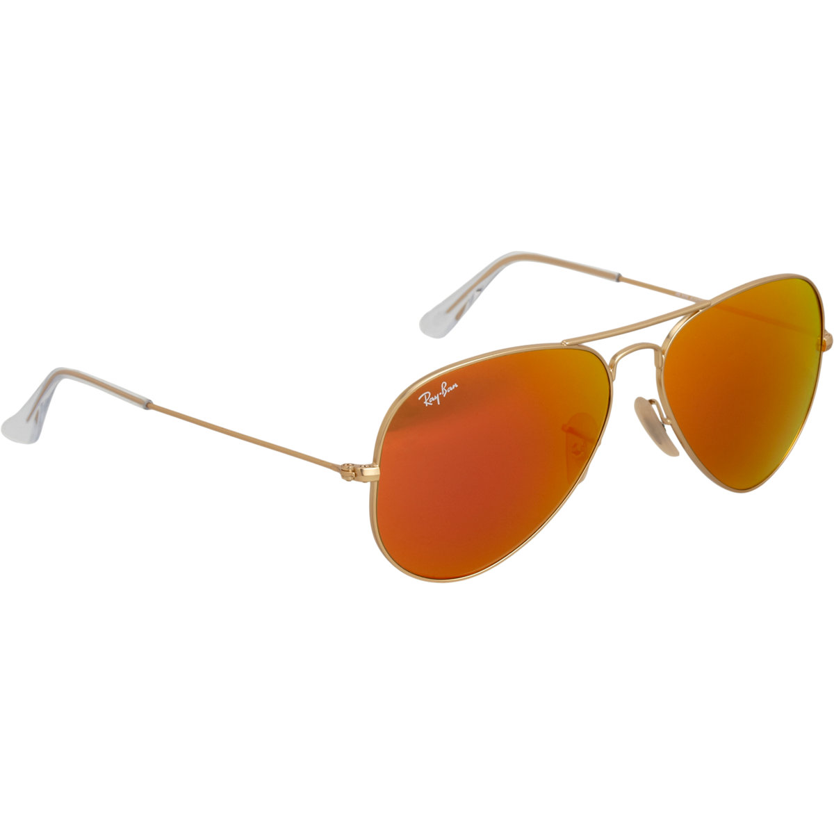 Ray-Ban Gold Frame Crystal Mirror Lens Aviator Sunglasses in ...
