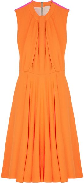 Roksanda Ilincic Sessler Colorblock Woolcrepe Dress - Lyst