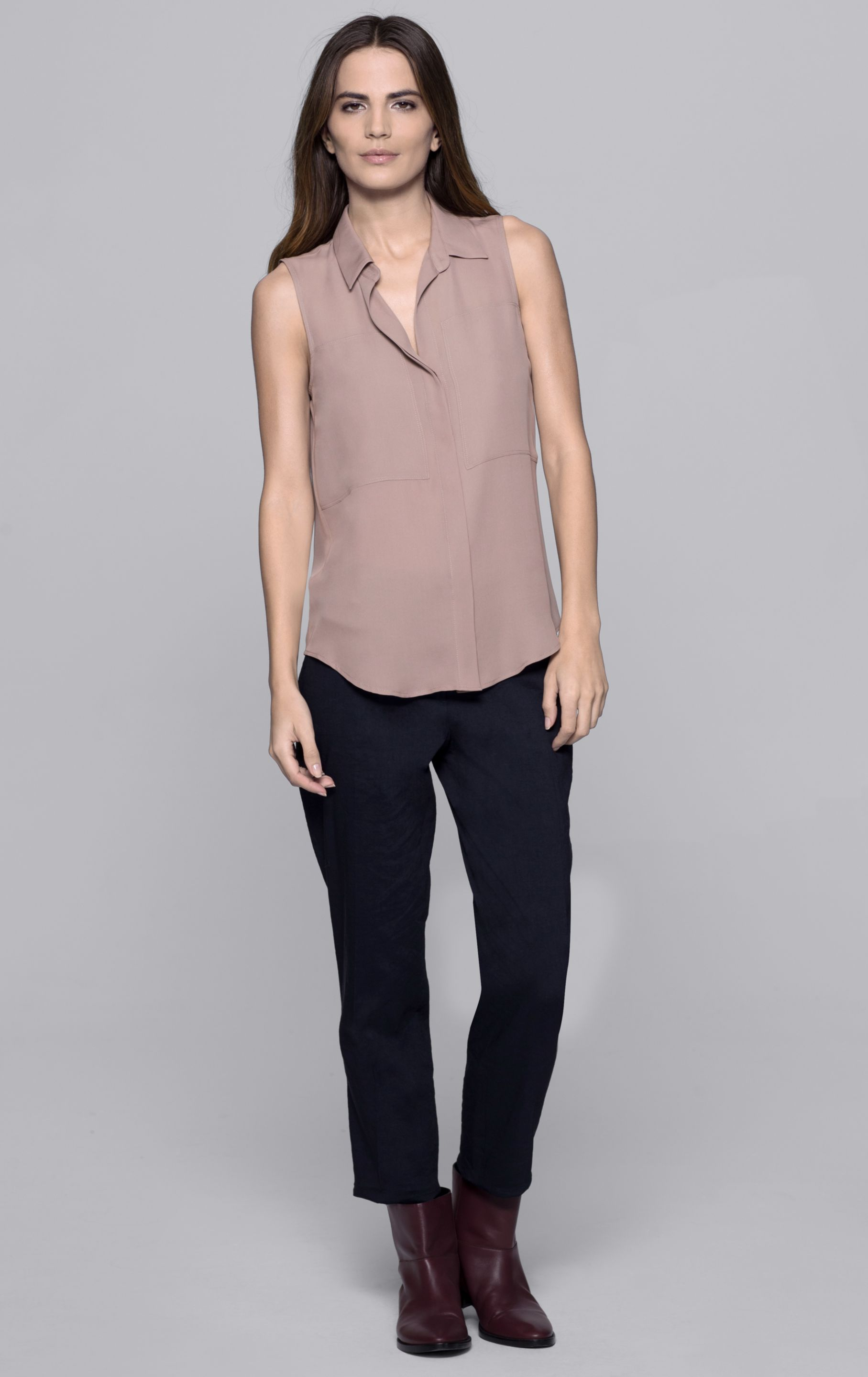 d9e69556eb05c Lyst - Theory Duria Double Georgette Blouse in Pink