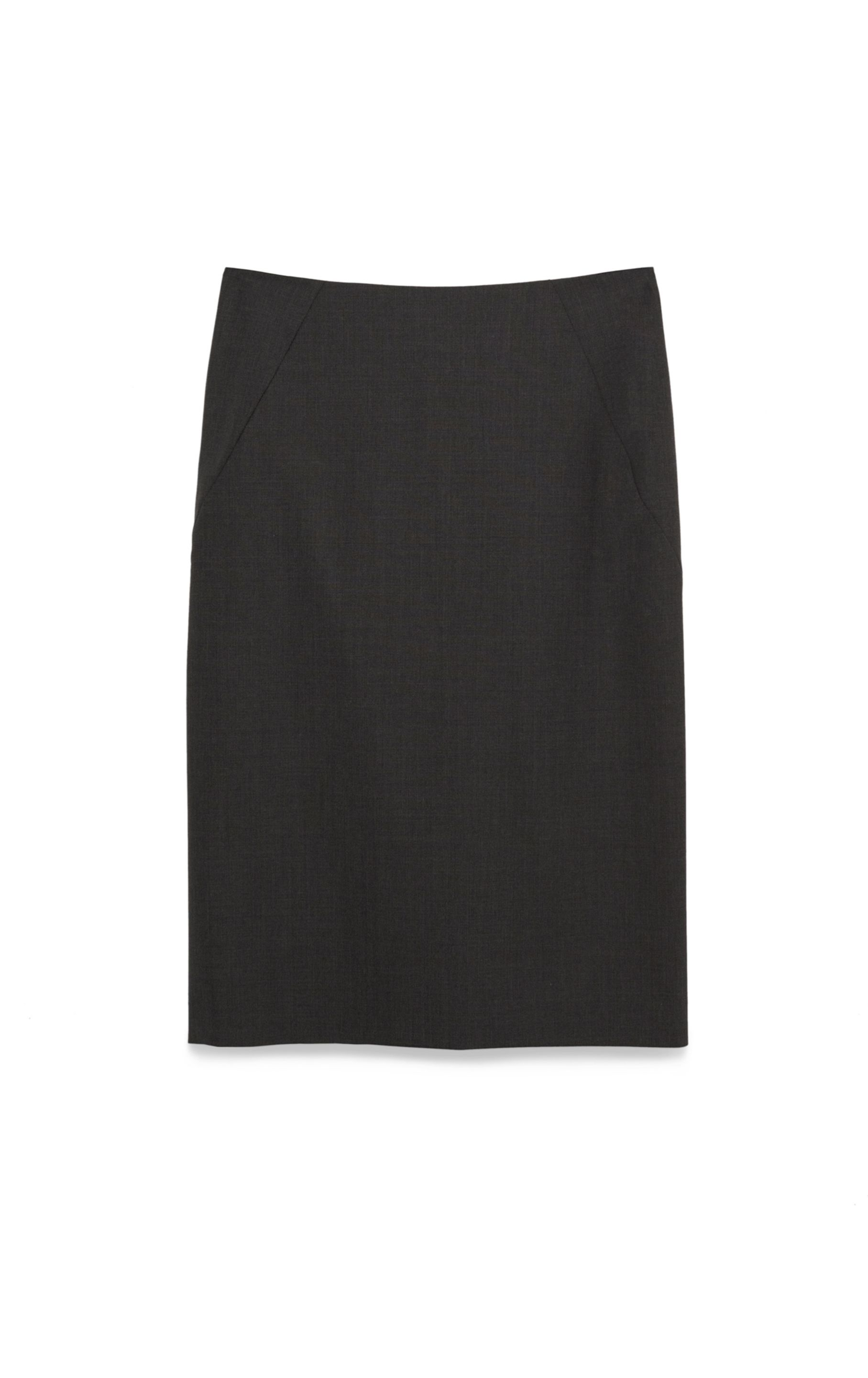 Theory Golda Tailor Pencil Skirt in Gray | Lyst