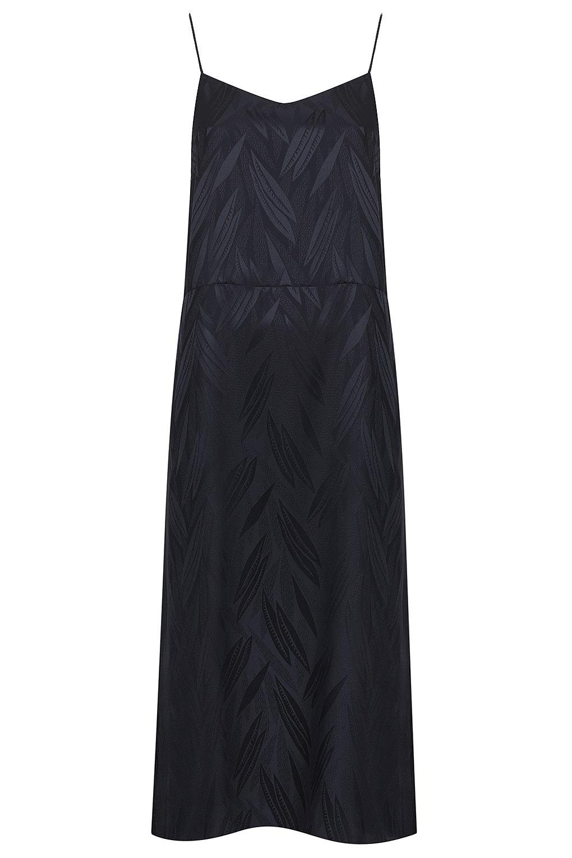 42ff708b166a3 TOPSHOP Silk Jaquard Slip Dress By Boutique in Blue - Lyst
