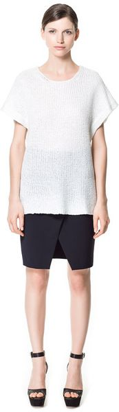 Zara Short Sleeve Top - Lyst