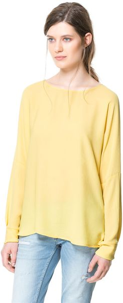 Zara Long Sleeve Top - Lyst