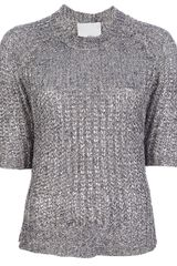 3.1 Phillip Lim Metallic Knit Sweater - Lyst