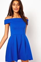 Asos Off Shoulder Prom Dress - Lyst
