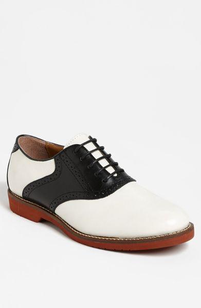 g h bass co burlington saddle shoe in white for