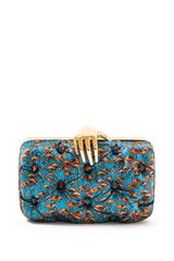 Benedetta Bruzziches Flamingo Carmen Clutch with Hand