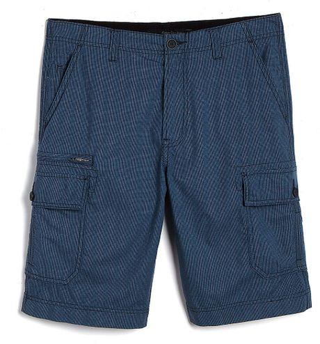 Mens Blue Cargo Shorts