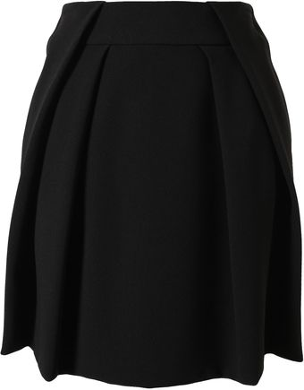 Chloé Folded Crepe Mini Skirt - Lyst