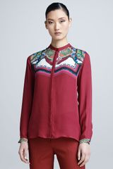 Etro Long sleeve Print yoke Shirt - Lyst