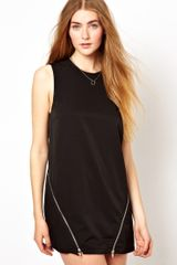 Goldie Goldie Shift Dress with Zips - Lyst