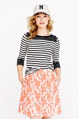 J.Crew Painter Tee in Colorblock Stripe