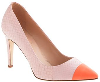J.Crew Everly Cap Toe Snakeskin Pumps - Lyst