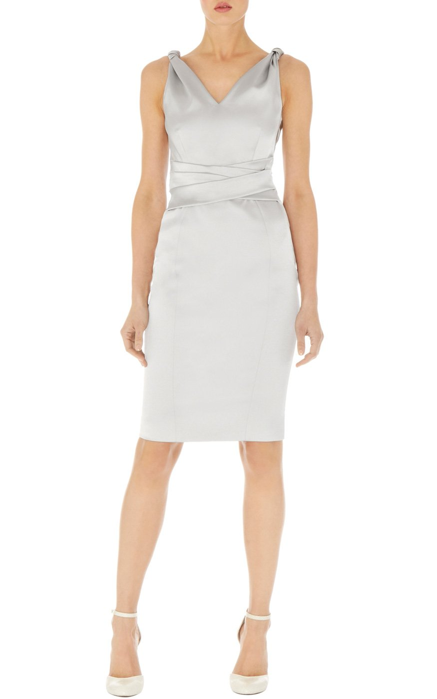 Karen Millen Signature Stretch Satin Pencil Dress In