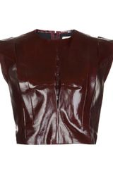 Mugler Sleeveless Molded Top - Lyst