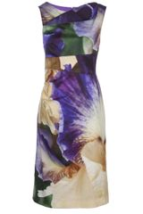 Oscar de la Renta Sleeveless Ruched Dress - Lyst