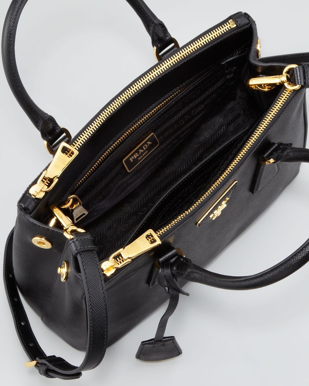 6948089572ac ... denmark lyst prada mini saffiano lux tote bag in black cd8b6 57f41