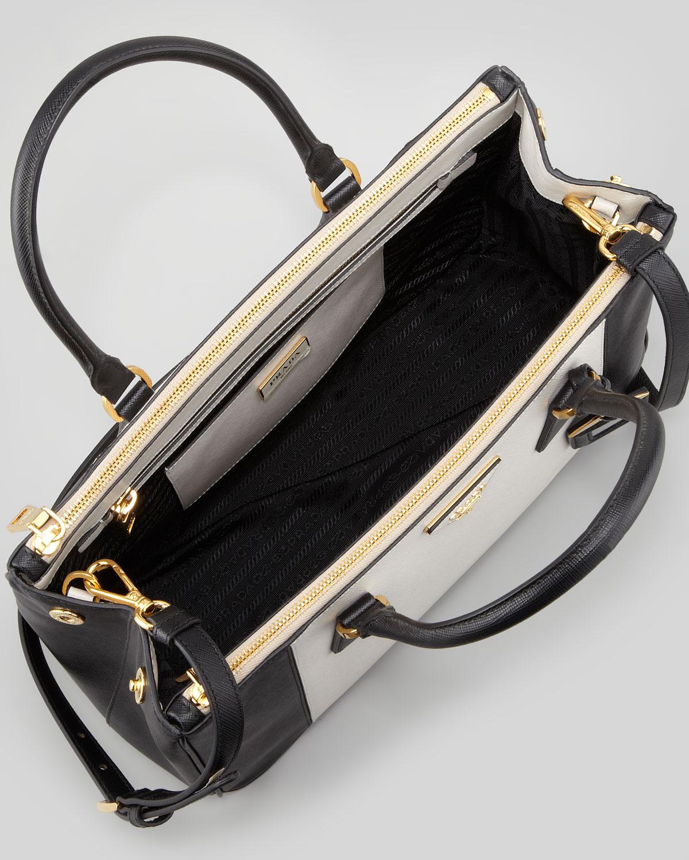4c0f5cba617d prada saffiano double zip tote w tags, how much prada bag