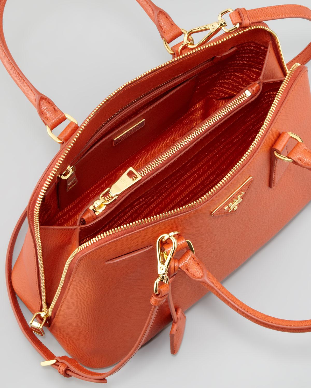 Lyst - Prada Saffiano Small Promenade Crossbody Bag in Orange e9fe20488b