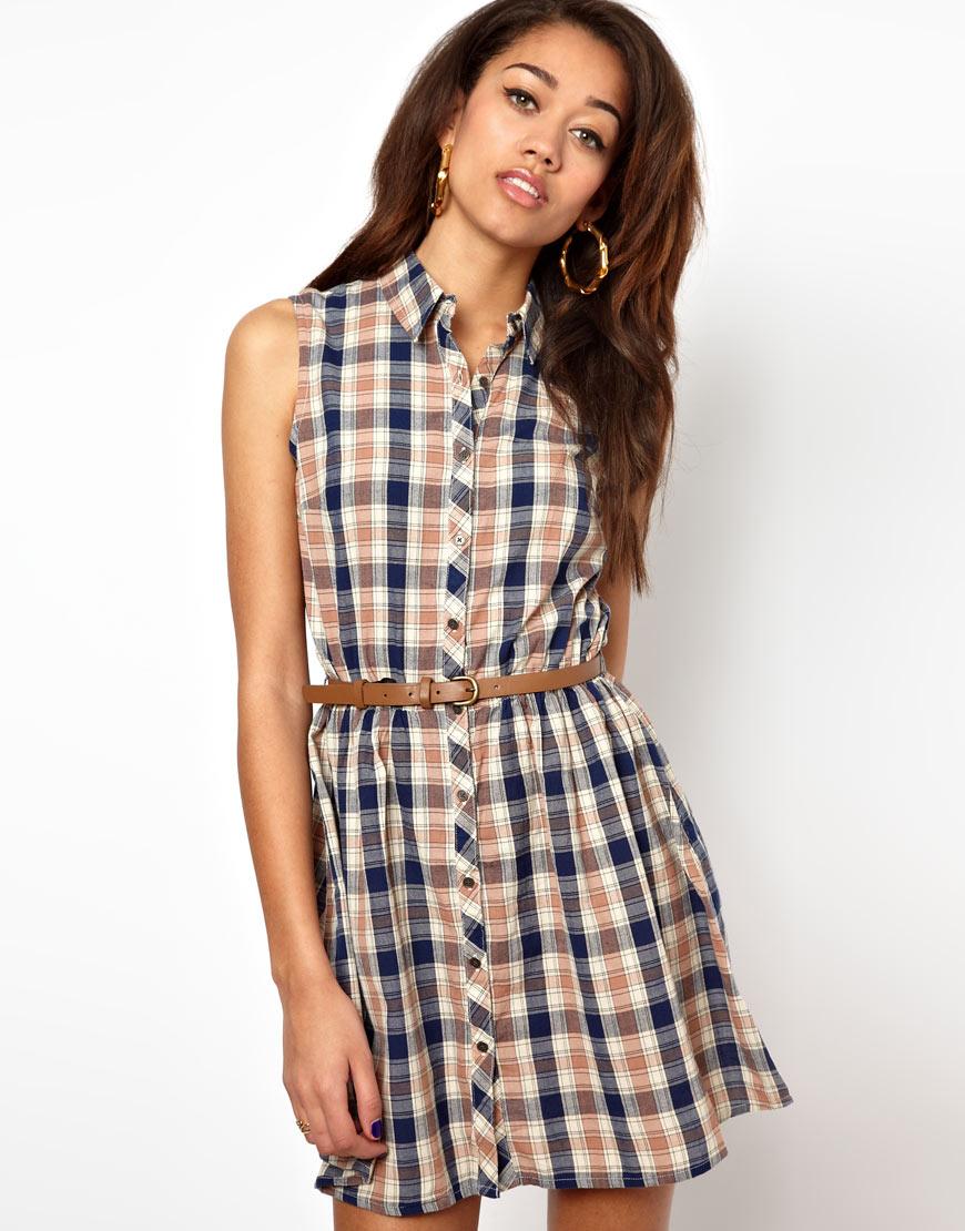 2d6c6aaf57 Cream Ladies Shirt Dress