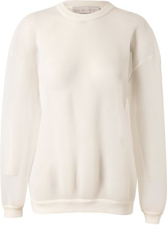 Stella McCartney Oversized Cushioned Mesh Sweater - Lyst