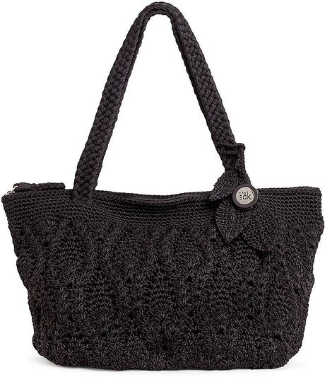 The Sak Kenya Round Crochet Tote in Black Lyst