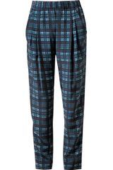 3.1 Phillip Lim Check Printed Silk Trousers - Lyst